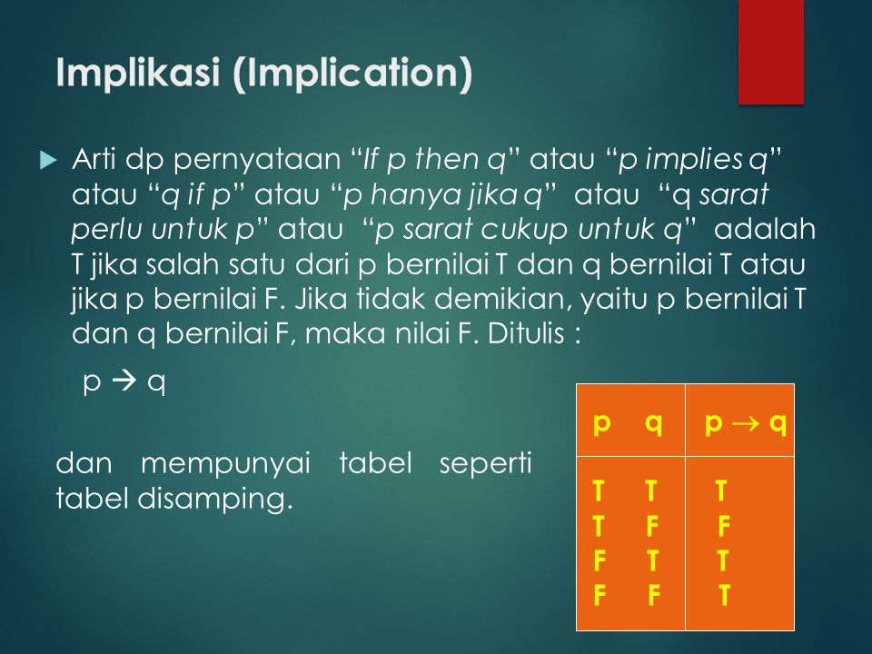 Implikasi (Implication)