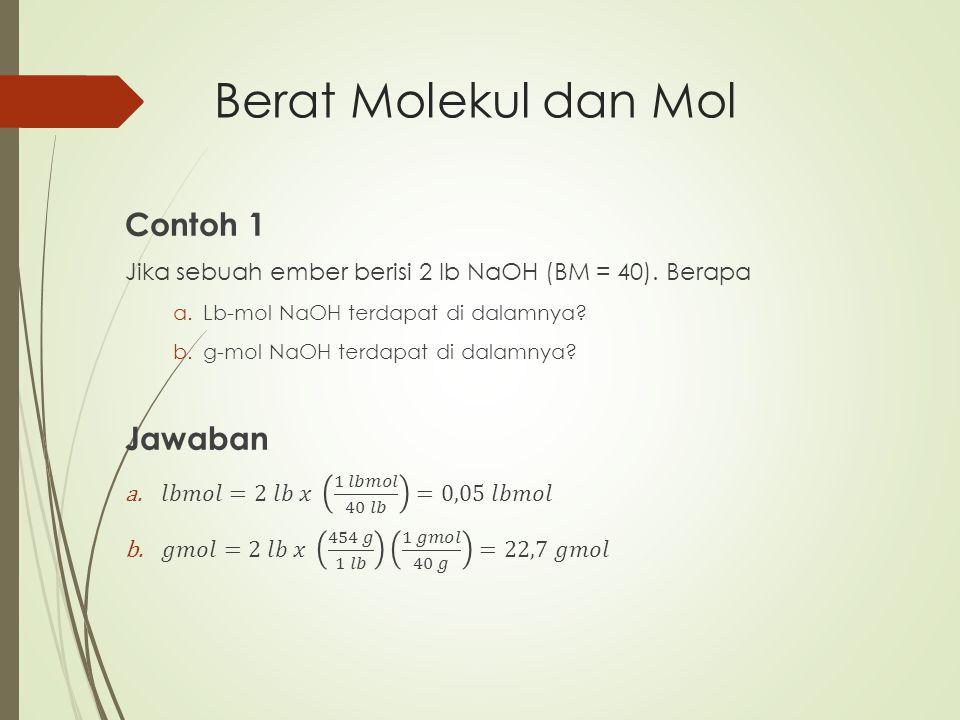 Berat Molekul dan Mol Contoh 1 Jawaban