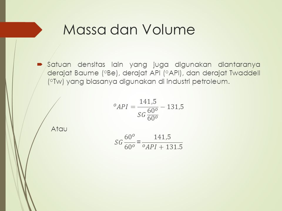 Massa dan Volume