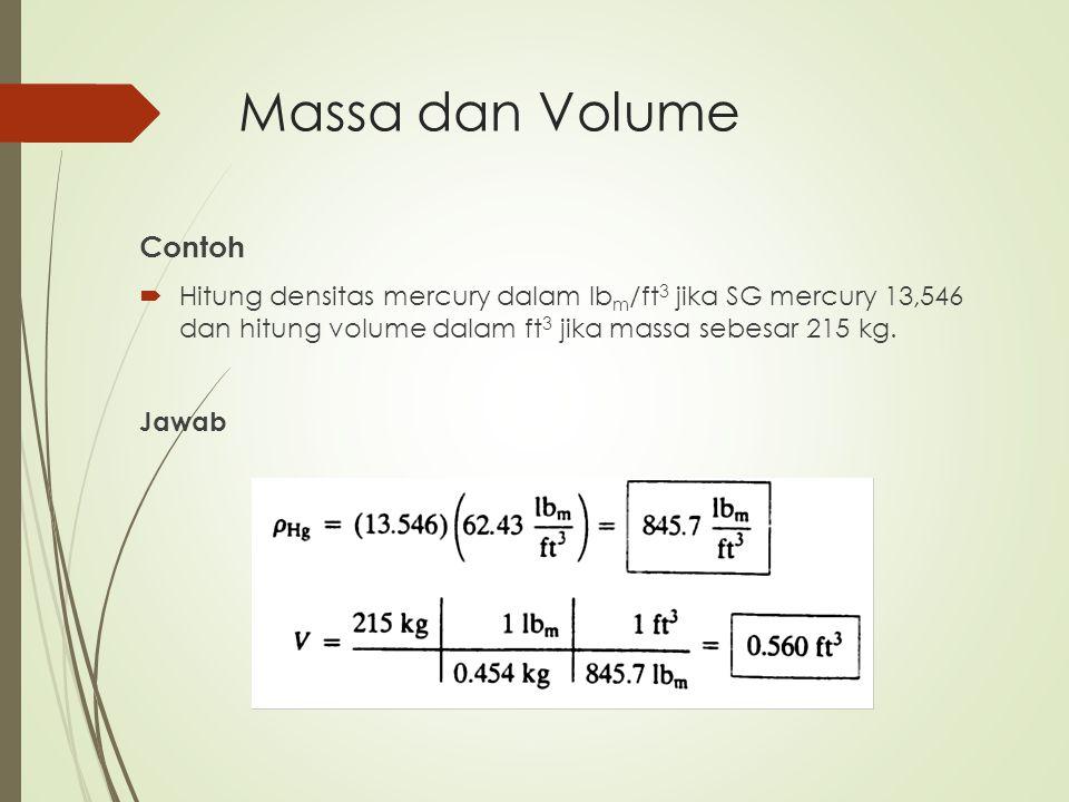 Massa dan Volume Contoh