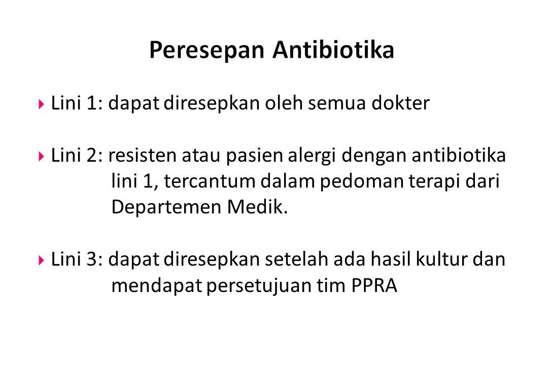 Peresepan Antibiotika