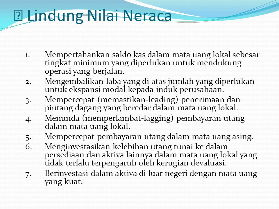  Lindung Nilai Neraca