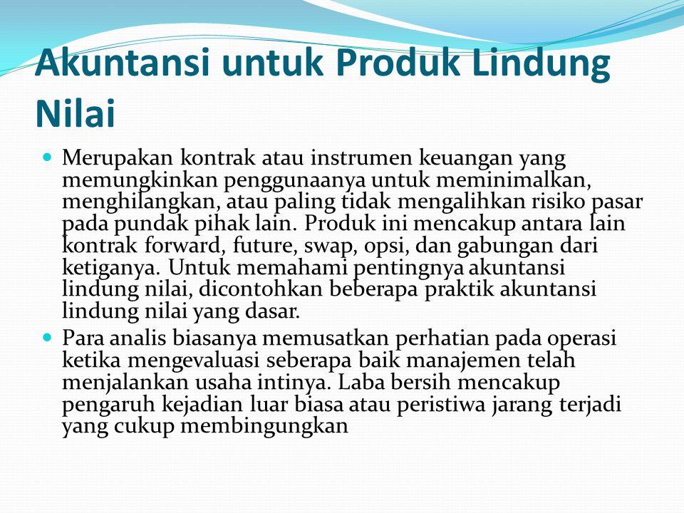 Akuntansi untuk Produk Lindung Nilai
