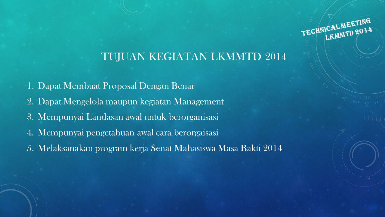 TECHNICAL MEETING LKMMTD 2014