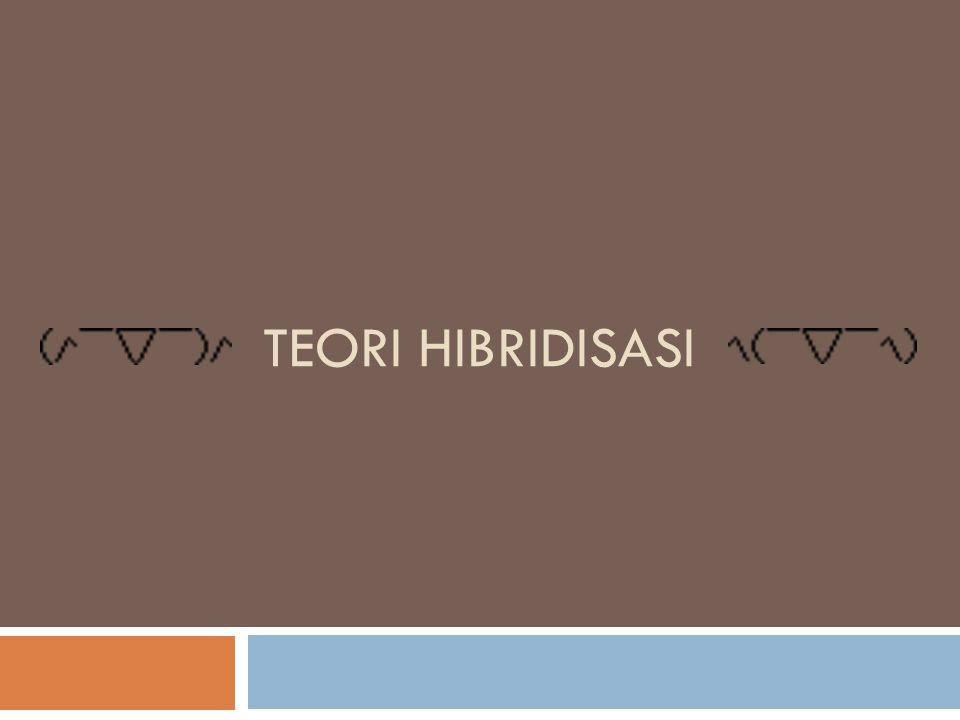 Teori Hibridisasi