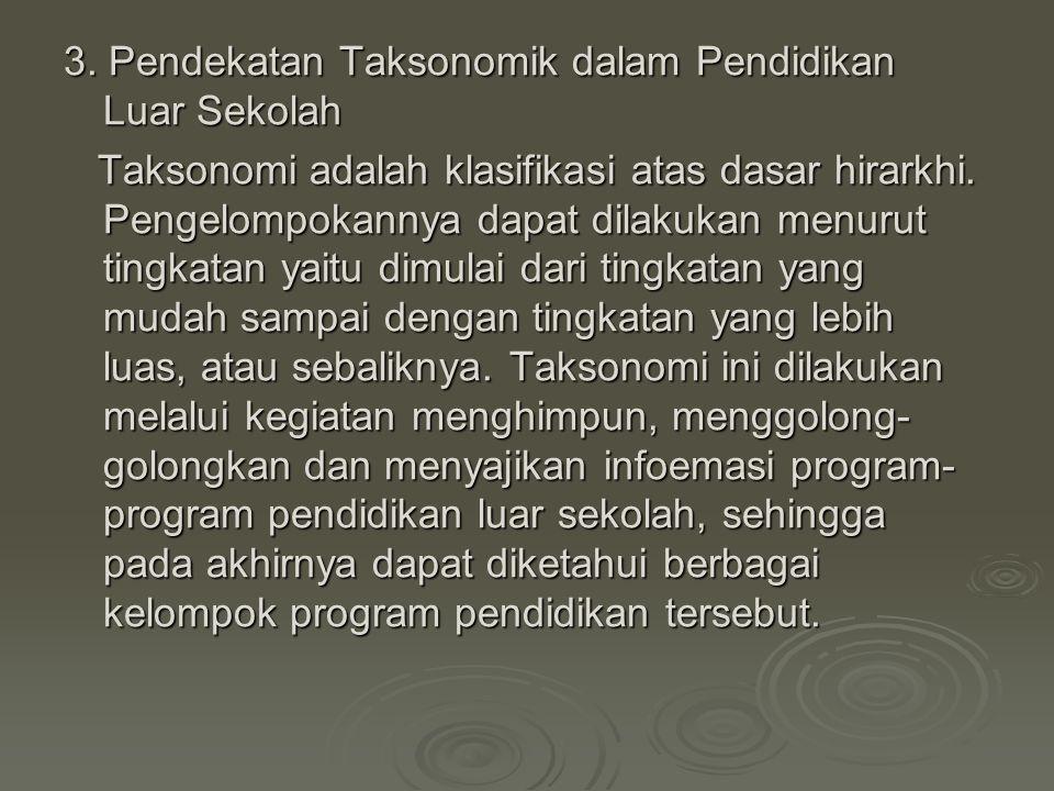 3. Pendekatan Taksonomik dalam Pendidikan Luar Sekolah