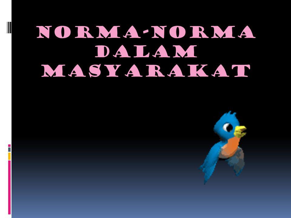 NORMA-NORMA dalam MASYARAKAT
