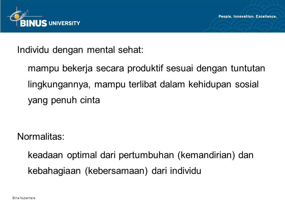 Individu dengan mental sehat: