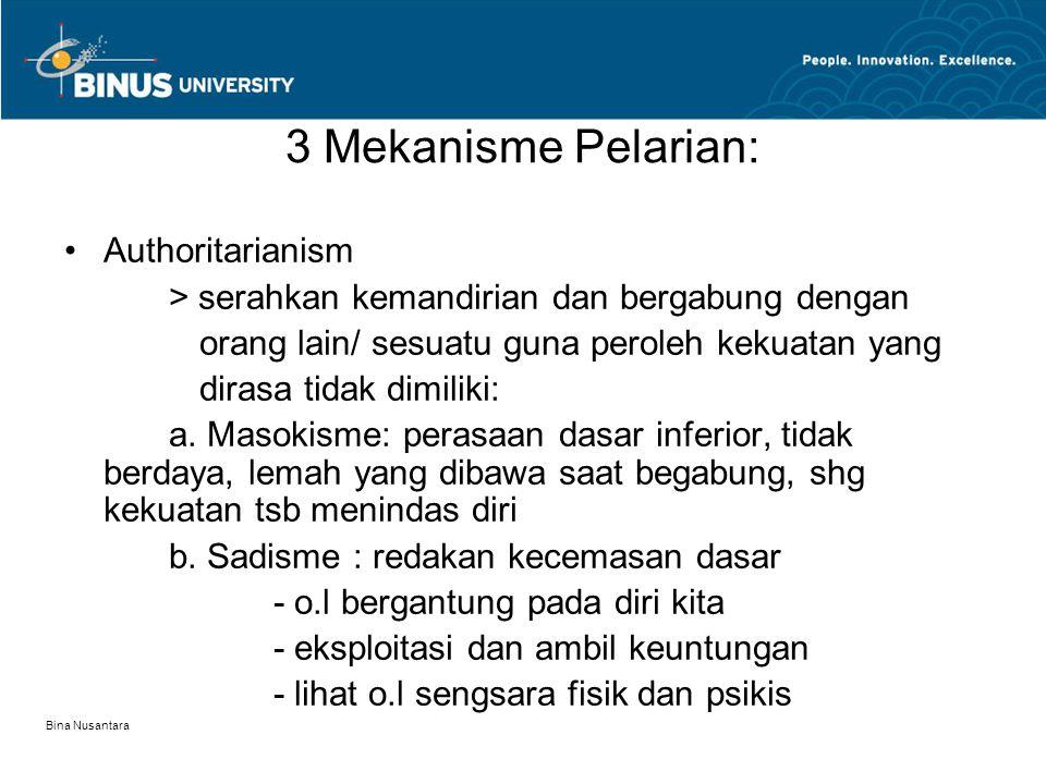 3 Mekanisme Pelarian: Authoritarianism