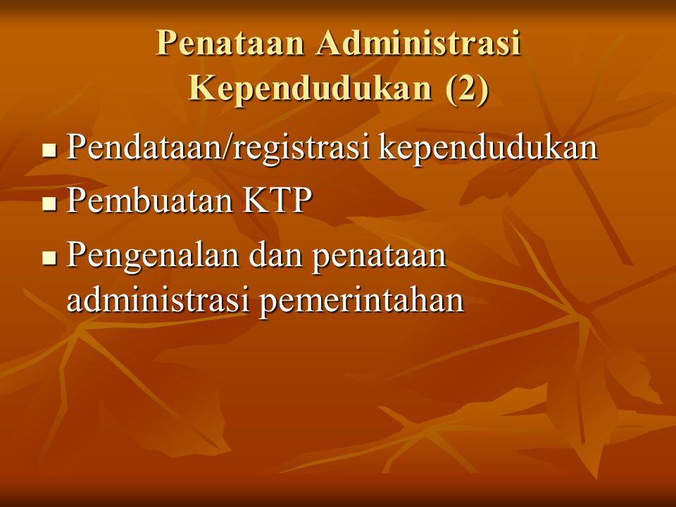 Penataan Administrasi Kependudukan (2)