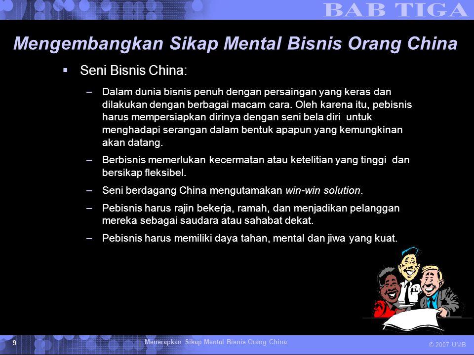 Mengembangkan Sikap Mental Bisnis Orang China