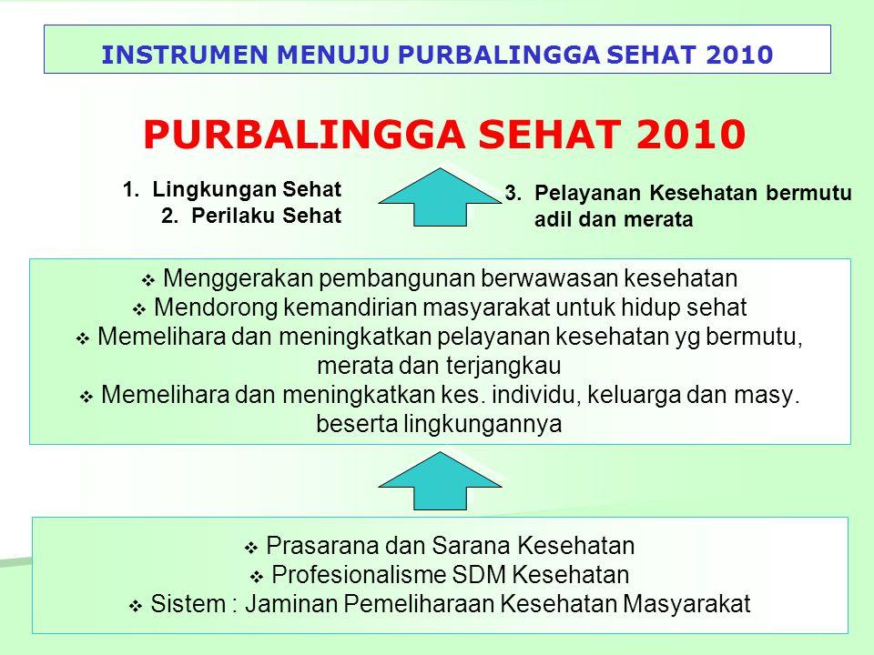 INSTRUMEN MENUJU PURBALINGGA SEHAT 2010