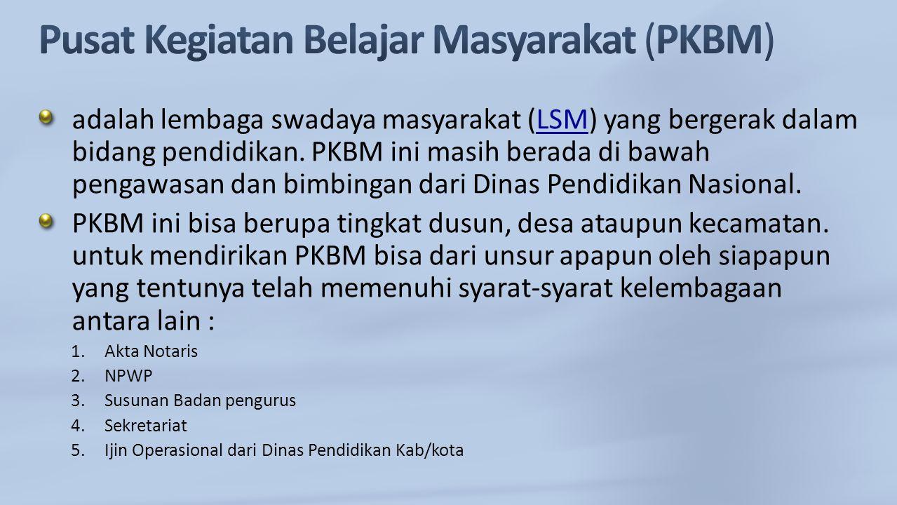 Pusat Kegiatan Belajar Masyarakat (PKBM)