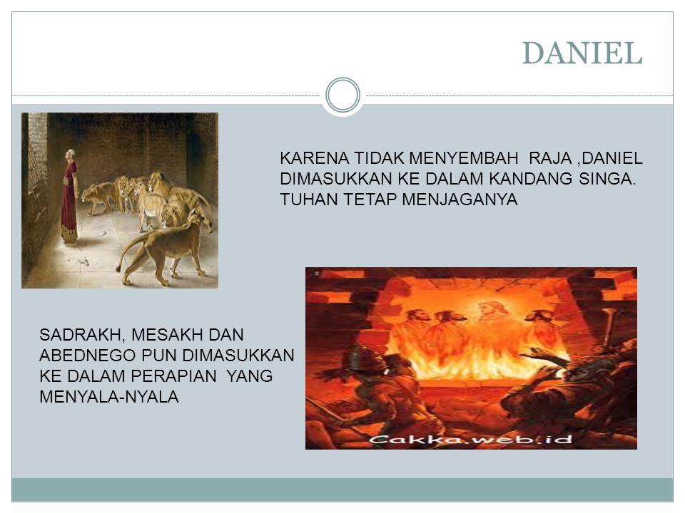 DANIEL KARENA TIDAK MENYEMBAH RAJA ,DANIEL