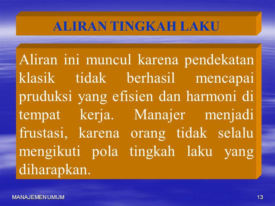 ALIRAN TINGKAH LAKU