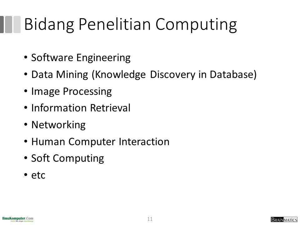 Bidang Penelitian Computing