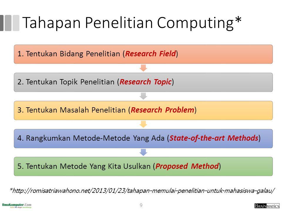 Tahapan Penelitian Computing*
