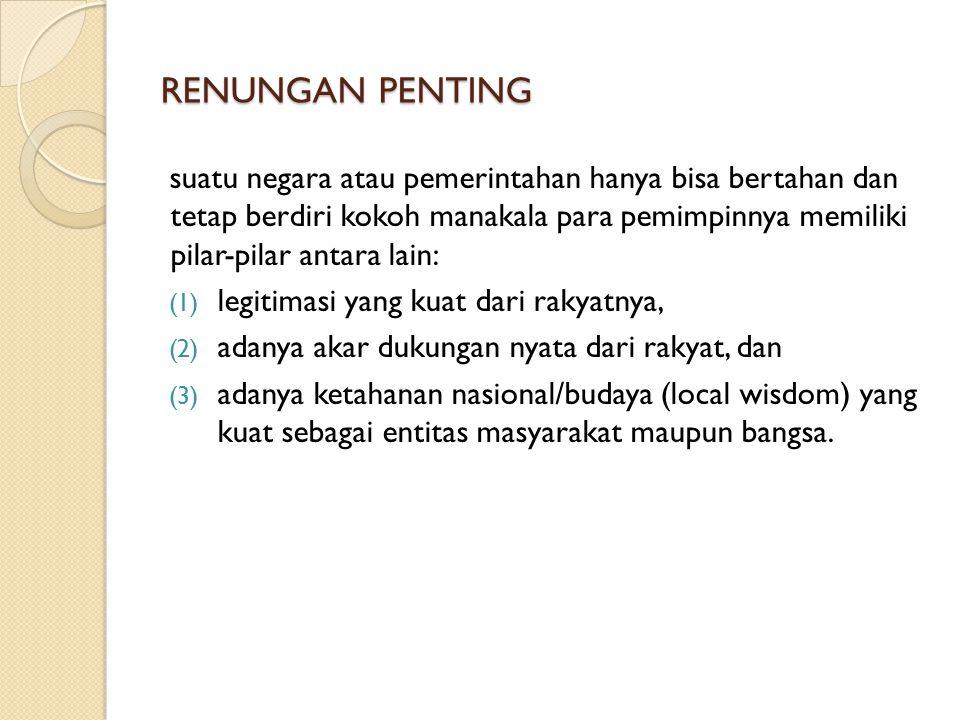 RENUNGAN PENTING