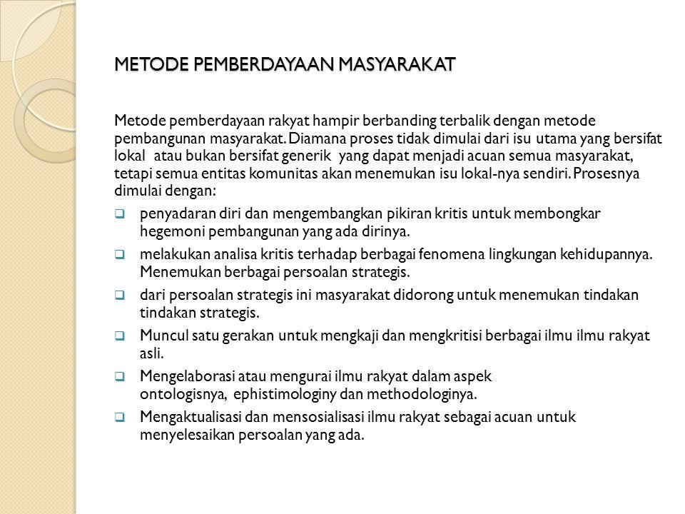 METODE PEMBERDAYAAN MASYARAKAT