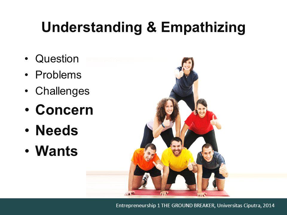Understanding & Empathizing