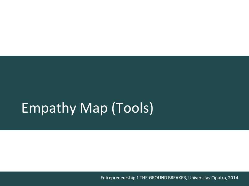 Empathy Map (Tools)