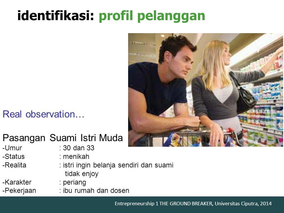 identifikasi: profil pelanggan