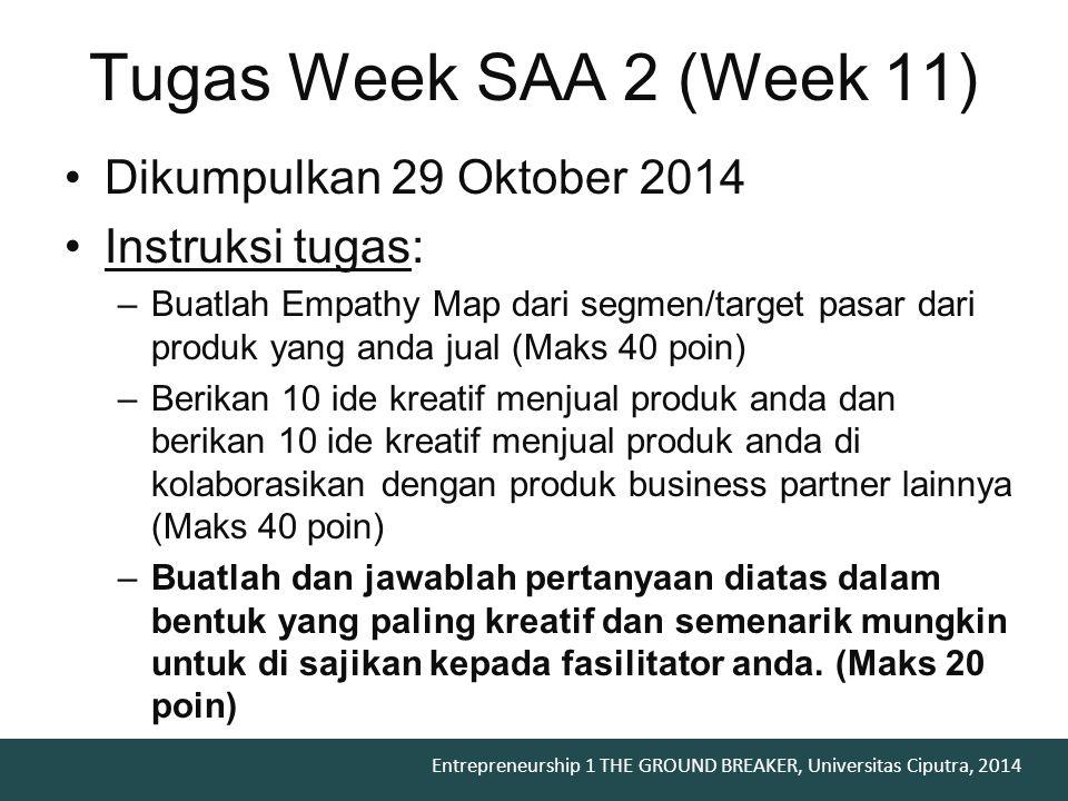 Tugas Week SAA 2 (Week 11) Dikumpulkan 29 Oktober 2014