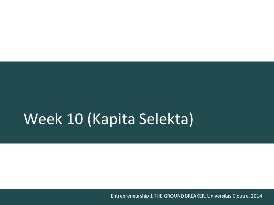 Week 10 (Kapita Selekta)