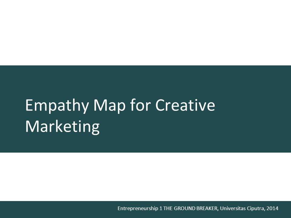Empathy Map for Creative Marketing