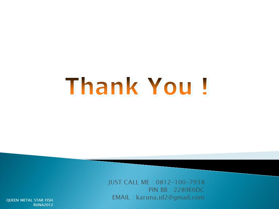 Thank You ! JUST CALL ME : PIN BB : 2289E6DC
