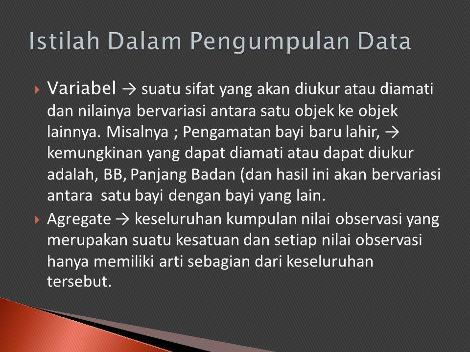 Istilah Dalam Pengumpulan Data