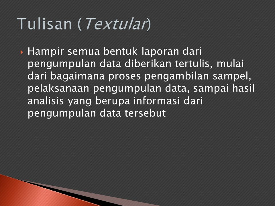 Tulisan (Textular)