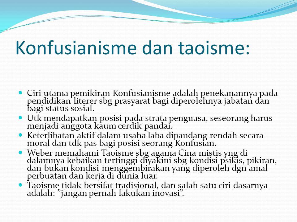 Konfusianisme dan taoisme:
