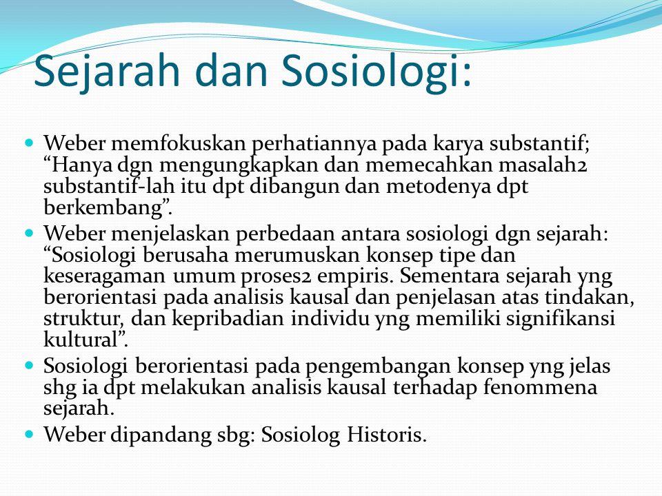 Sejarah dan Sosiologi:
