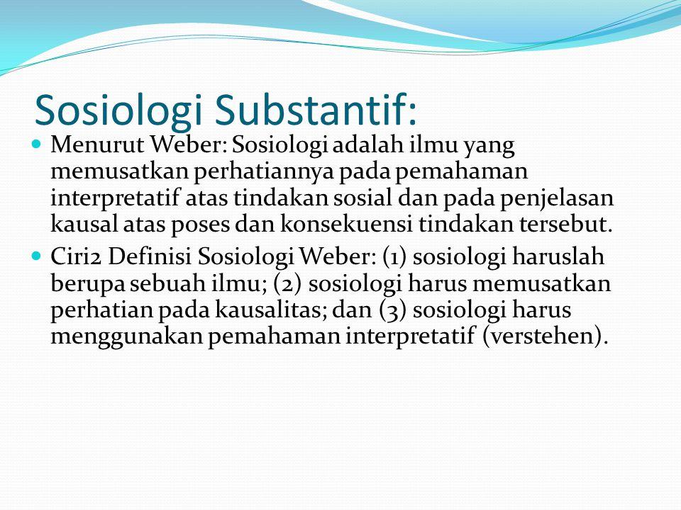 Sosiologi Substantif: