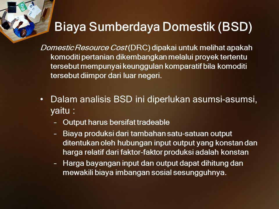 Biaya Sumberdaya Domestik (BSD)