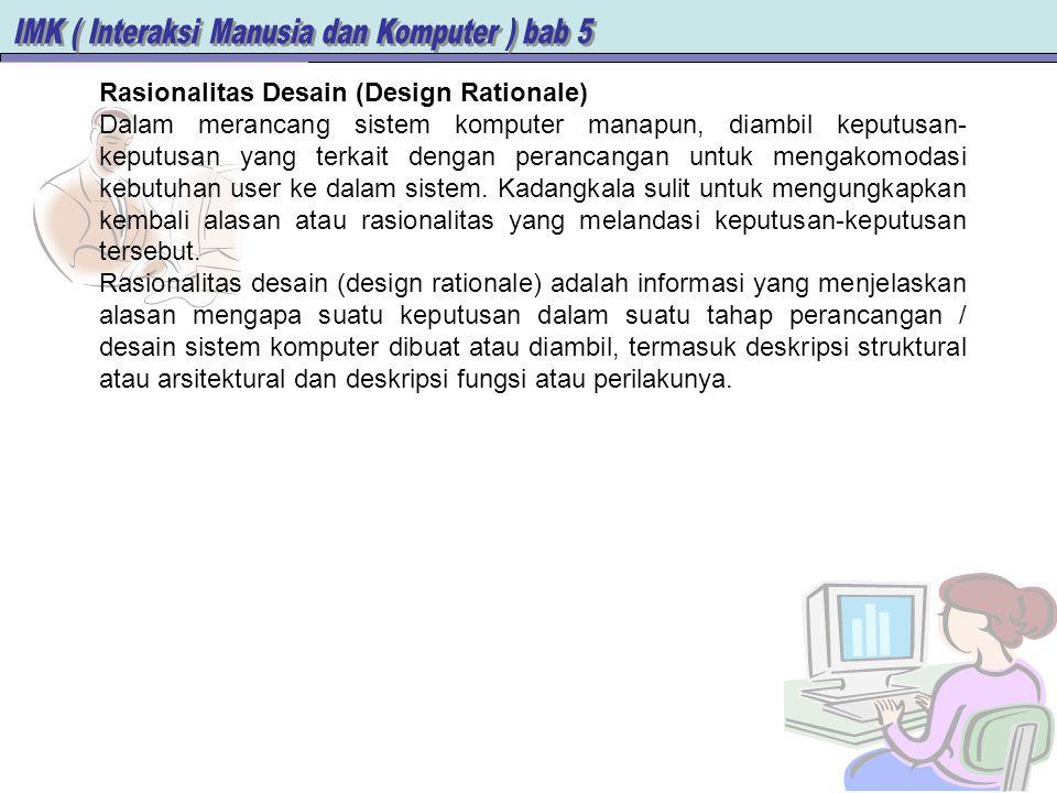 Rasionalitas Desain (Design Rationale)