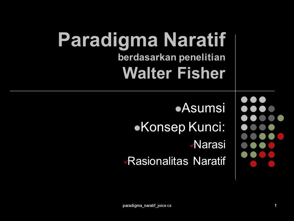 Paradigma Naratif berdasarkan penelitian Walter Fisher