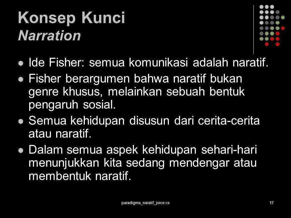 Konsep Kunci Narration