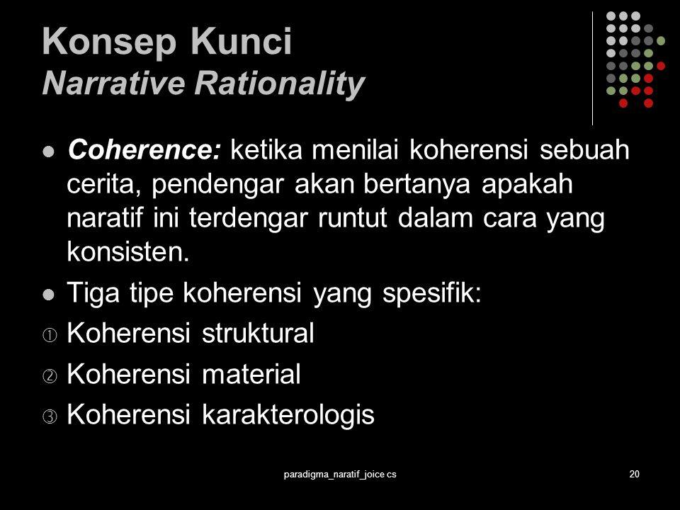 Konsep Kunci Narrative Rationality