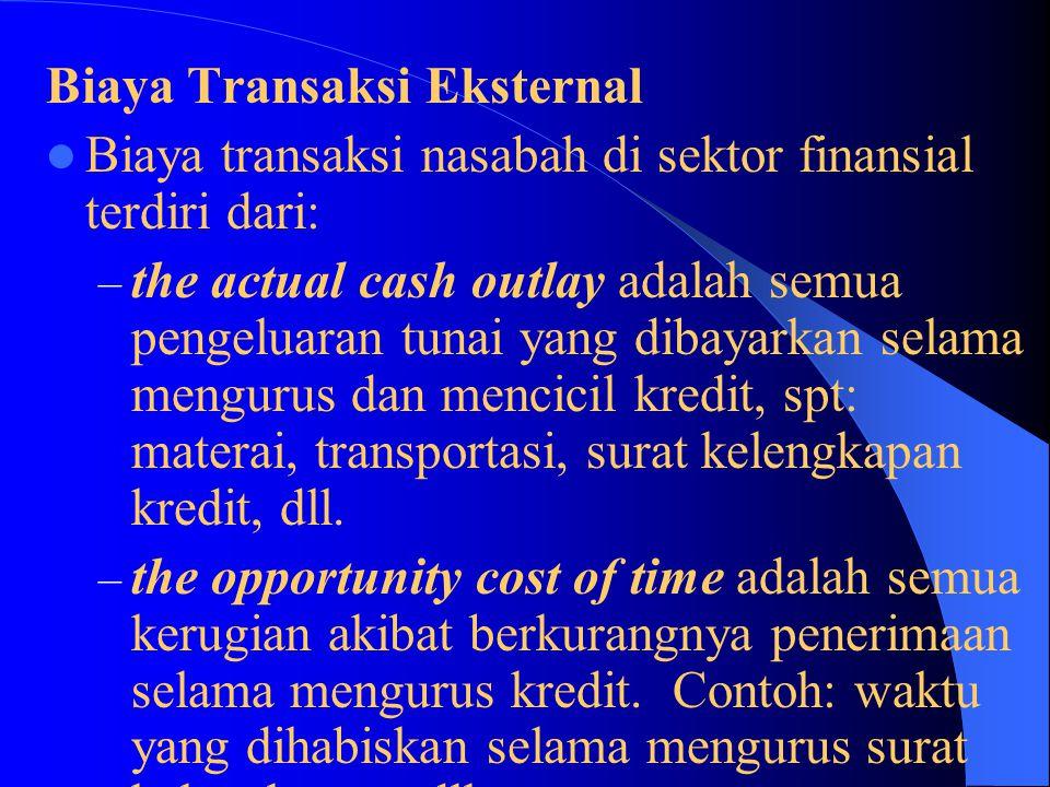 Biaya Transaksi Eksternal