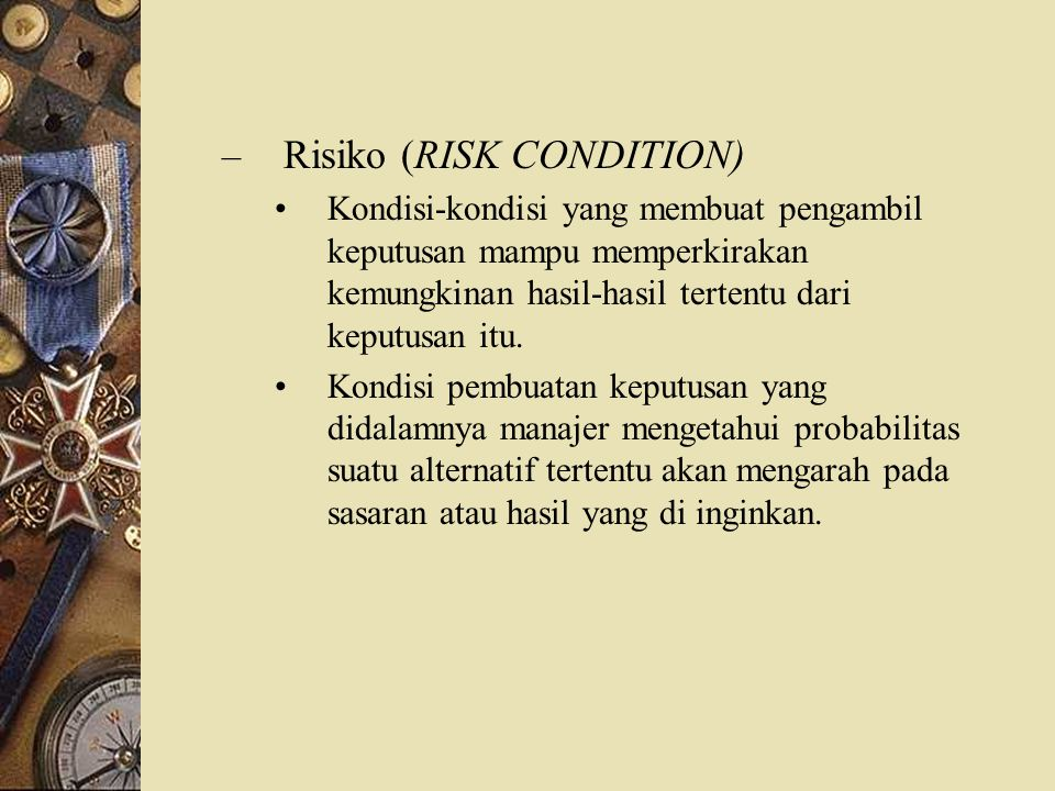 Risiko (RISK CONDITION)