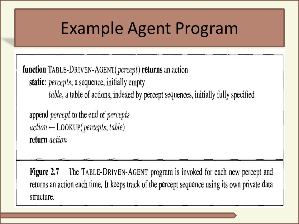 Example Agent Program