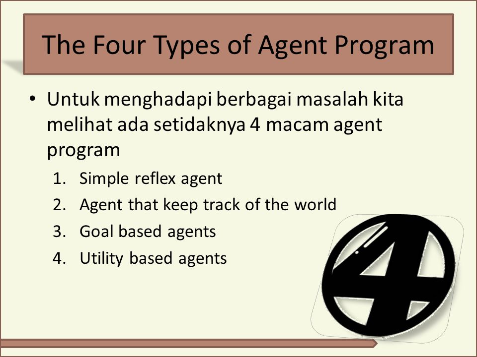 The Four Types of Agent Program
