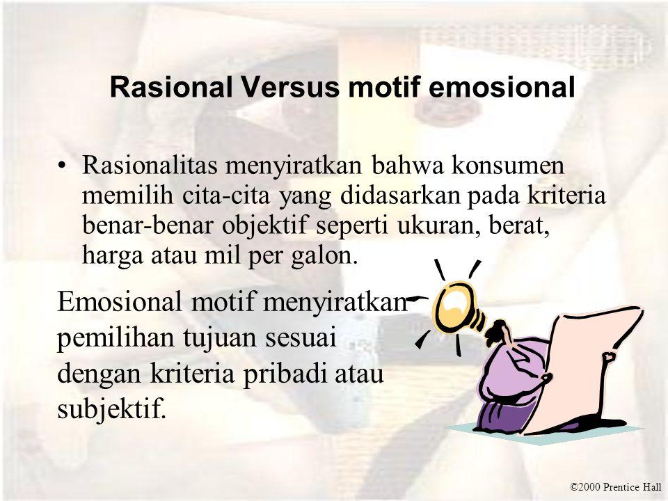 Rasional Versus motif emosional