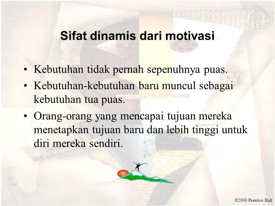 Sifat dinamis dari motivasi