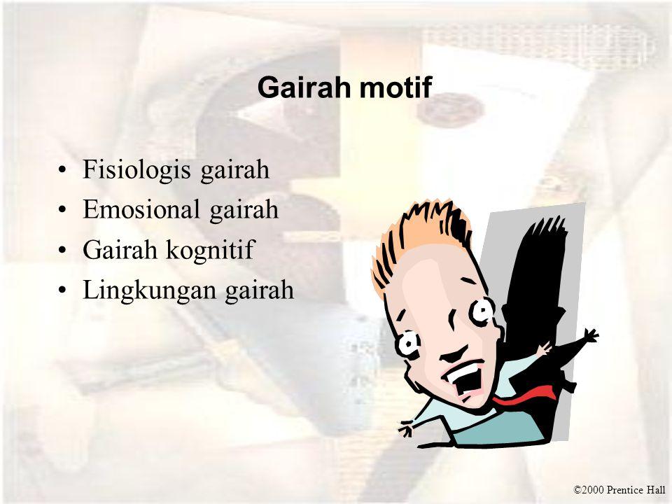 Gairah motif Fisiologis gairah Emosional gairah Gairah kognitif