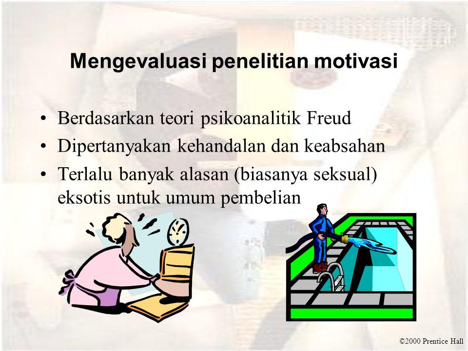 Mengevaluasi penelitian motivasi