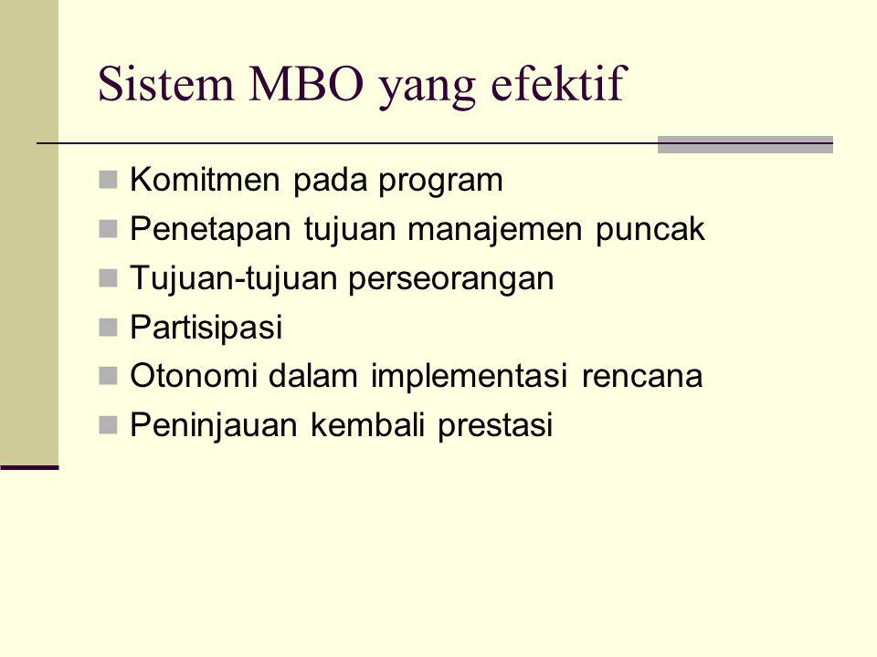Sistem MBO yang efektif