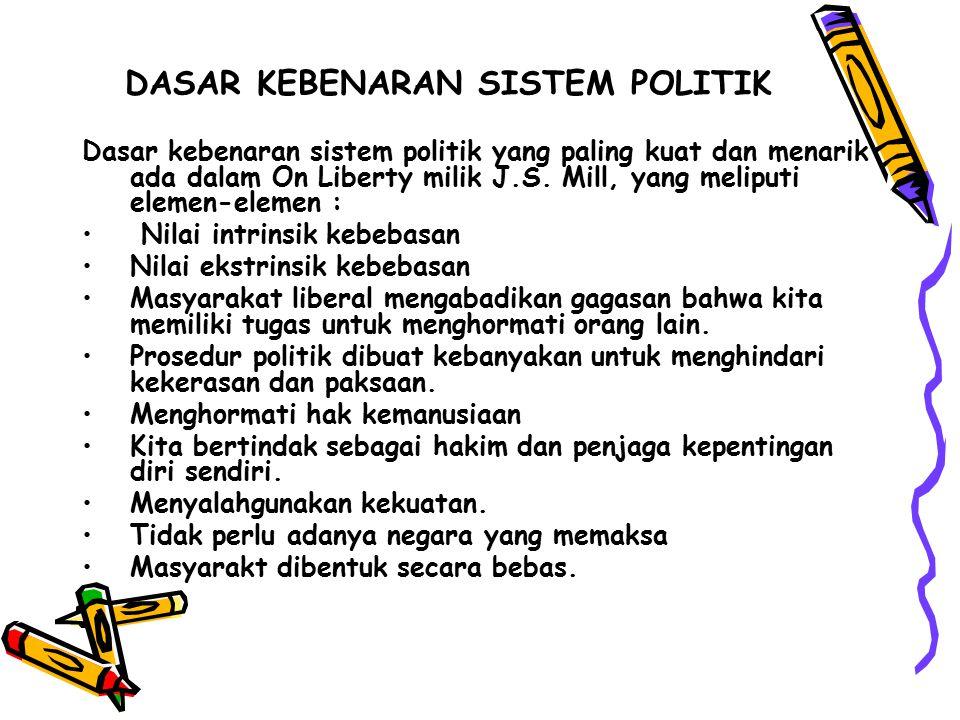 DASAR KEBENARAN SISTEM POLITIK